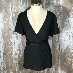 🏖3/$15 Old Navy Black Perfect Fit Blouse Sz XXL